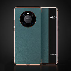 Custodia Portafoglio In Pelle Cover con Supporto F03 per Huawei Mate 40 Ciano