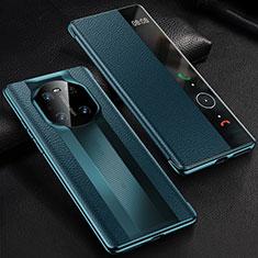 Custodia Portafoglio In Pelle Cover con Supporto K01 per Huawei Mate 40 Pro Blu