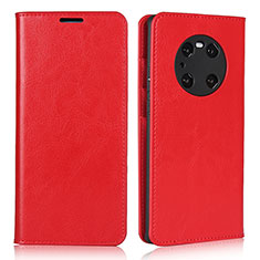Custodia Portafoglio In Pelle Cover con Supporto K02 per Huawei Mate 40 Pro Rosso