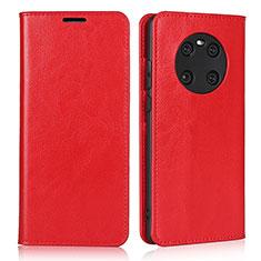 Custodia Portafoglio In Pelle Cover con Supporto K02 per Huawei Mate 40 Rosso