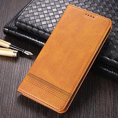 Custodia Portafoglio In Pelle Cover con Supporto K03 per Huawei Mate 40 Pro Marrone Chiaro