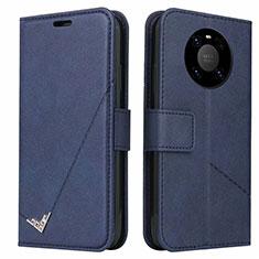 Custodia Portafoglio In Pelle Cover con Supporto K06 per Huawei Mate 40 Pro Blu