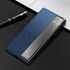 Custodia Portafoglio In Pelle Cover con Supporto K08 per Huawei Mate 40 Pro Blu