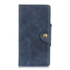 Custodia Portafoglio In Pelle Cover con Supporto L01 per Alcatel 3L Blu