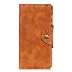 Custodia Portafoglio In Pelle Cover con Supporto L01 per Alcatel 3X Arancione