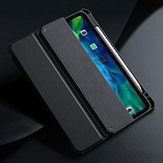Custodia Portafoglio In Pelle Cover con Supporto L01 per Apple iPad Air 4 10.9 (2020) Nero