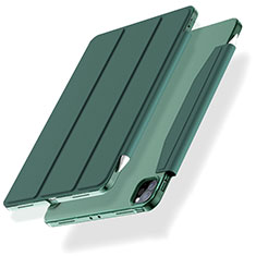 Custodia Portafoglio In Pelle Cover con Supporto L01 per Apple iPad Pro 11 (2020) Verde