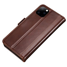 Custodia Portafoglio In Pelle Cover con Supporto L01 per Apple iPhone 11 Pro Max Marrone