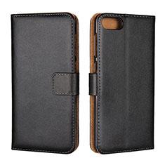 Custodia Portafoglio In Pelle Cover con Supporto L01 per Asus Zenfone 4 Max ZC554KL Nero
