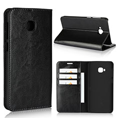 Custodia Portafoglio In Pelle Cover con Supporto L01 per Asus Zenfone 4 Selfie Pro Nero