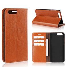 Custodia Portafoglio In Pelle Cover con Supporto L01 per Asus Zenfone 4 ZE554KL Arancione