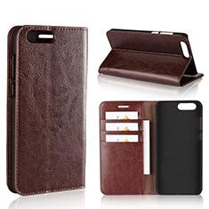 Custodia Portafoglio In Pelle Cover con Supporto L01 per Asus Zenfone 4 ZE554KL Marrone