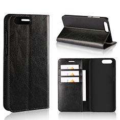 Custodia Portafoglio In Pelle Cover con Supporto L01 per Asus Zenfone 4 ZE554KL Nero