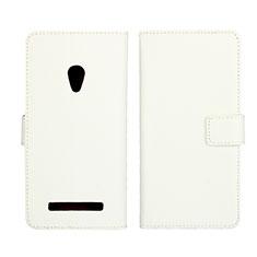 Custodia Portafoglio In Pelle Cover con Supporto L01 per Asus Zenfone 5 Bianco