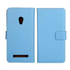 Custodia Portafoglio In Pelle Cover con Supporto L01 per Asus Zenfone 5 Cielo Blu