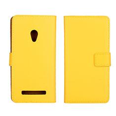 Custodia Portafoglio In Pelle Cover con Supporto L01 per Asus Zenfone 5 Giallo