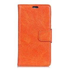 Custodia Portafoglio In Pelle Cover con Supporto L01 per Asus Zenfone 5 Lite ZC600KL Arancione