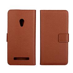 Custodia Portafoglio In Pelle Cover con Supporto L01 per Asus Zenfone 5 Marrone
