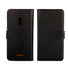 Custodia Portafoglio In Pelle Cover con Supporto L01 per Asus Zenfone 5 Nero