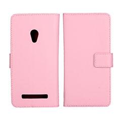 Custodia Portafoglio In Pelle Cover con Supporto L01 per Asus Zenfone 5 Rosa