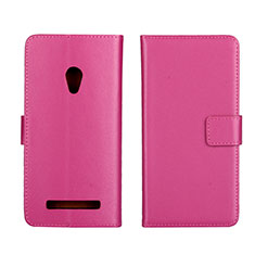 Custodia Portafoglio In Pelle Cover con Supporto L01 per Asus Zenfone 5 Rosa Caldo