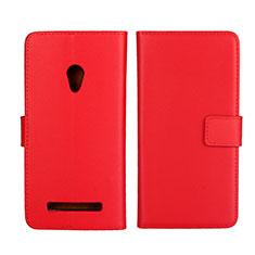Custodia Portafoglio In Pelle Cover con Supporto L01 per Asus Zenfone 5 Rosso