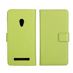 Custodia Portafoglio In Pelle Cover con Supporto L01 per Asus Zenfone 5 Verde