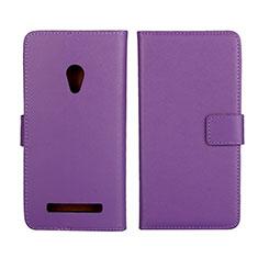 Custodia Portafoglio In Pelle Cover con Supporto L01 per Asus Zenfone 5 Viola