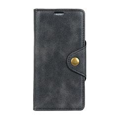 Custodia Portafoglio In Pelle Cover con Supporto L01 per Asus ZenFone Live L1 ZA550KL Nero