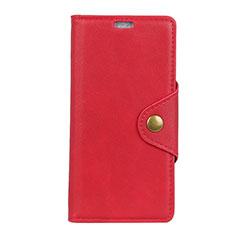 Custodia Portafoglio In Pelle Cover con Supporto L01 per Asus ZenFone Live L1 ZA550KL Rosso