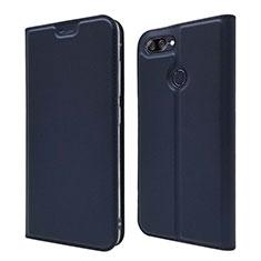 Custodia Portafoglio In Pelle Cover con Supporto L01 per Asus Zenfone Max Plus M1 ZB570TL Blu