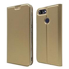 Custodia Portafoglio In Pelle Cover con Supporto L01 per Asus Zenfone Max Plus M1 ZB570TL Oro