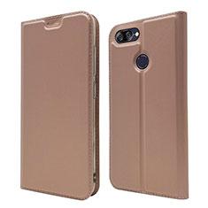 Custodia Portafoglio In Pelle Cover con Supporto L01 per Asus Zenfone Max Plus M1 ZB570TL Oro Rosa