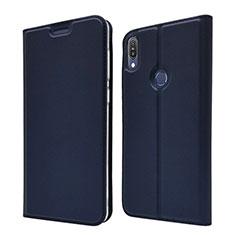 Custodia Portafoglio In Pelle Cover con Supporto L01 per Asus Zenfone Max Pro M1 ZB601KL Blu