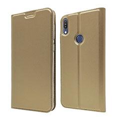 Custodia Portafoglio In Pelle Cover con Supporto L01 per Asus Zenfone Max Pro M1 ZB601KL Oro
