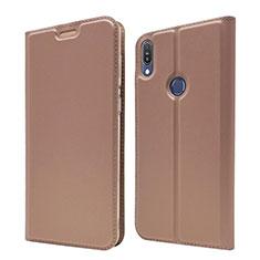 Custodia Portafoglio In Pelle Cover con Supporto L01 per Asus Zenfone Max Pro M1 ZB601KL Oro Rosa