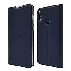 Custodia Portafoglio In Pelle Cover con Supporto L01 per Asus Zenfone Max Pro M2 ZB631KL Blu