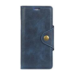 Custodia Portafoglio In Pelle Cover con Supporto L01 per Asus Zenfone Max ZB555KL Blu