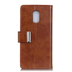 Custodia Portafoglio In Pelle Cover con Supporto L01 per Asus ZenFone V500KL Marrone