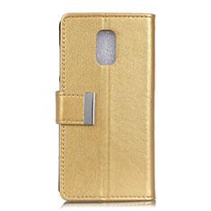 Custodia Portafoglio In Pelle Cover con Supporto L01 per Asus ZenFone V500KL Oro