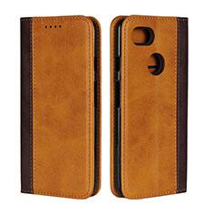 Custodia Portafoglio In Pelle Cover con Supporto L01 per Google Pixel 3 XL Arancione