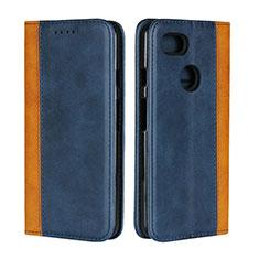 Custodia Portafoglio In Pelle Cover con Supporto L01 per Google Pixel 3 XL Blu