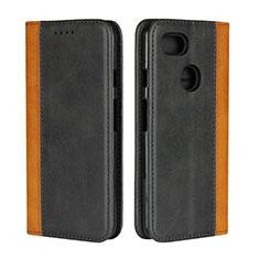 Custodia Portafoglio In Pelle Cover con Supporto L01 per Google Pixel 3 XL Nero