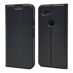 Custodia Portafoglio In Pelle Cover con Supporto L01 per Google Pixel 3a Nero