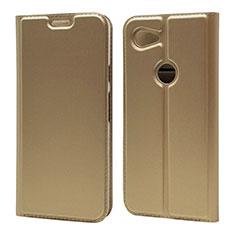 Custodia Portafoglio In Pelle Cover con Supporto L01 per Google Pixel 3a Oro