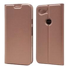 Custodia Portafoglio In Pelle Cover con Supporto L01 per Google Pixel 3a Oro Rosa