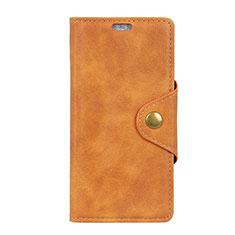 Custodia Portafoglio In Pelle Cover con Supporto L01 per HTC Desire 12S Arancione
