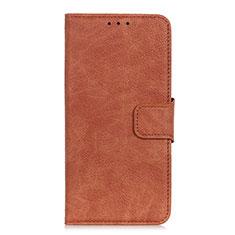 Custodia Portafoglio In Pelle Cover con Supporto L01 per HTC Desire 19 Plus Marrone