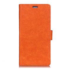 Custodia Portafoglio In Pelle Cover con Supporto L01 per HTC U11 Eyes Arancione