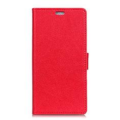 Custodia Portafoglio In Pelle Cover con Supporto L01 per HTC U11 Eyes Rosso